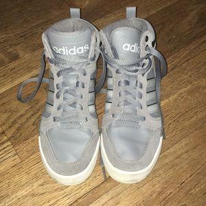 Size 6 1/2 Dark Gray Adidas high tops